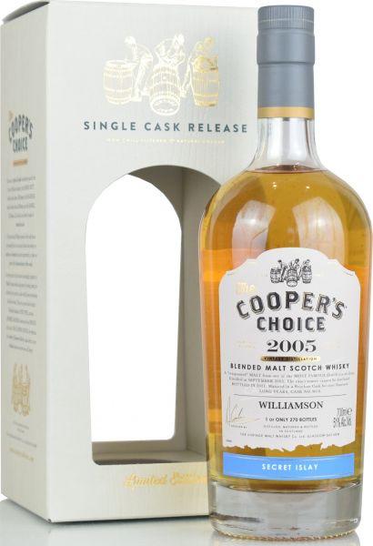 Williamson 15 Jahre 2005/2021 Cooper's Choice 51% vol.
