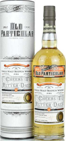 Jura 12 Jahre 2008/2021 Old Particular Cheers To Better Days Douglas Laing 48,4% vol.