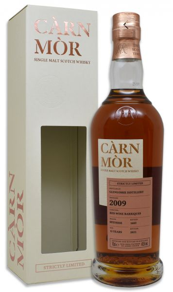 Glenlossie 12 Jahre 2009/2021 Red Wine Cask Carn Mor Strictly Limited 47,5% vol.