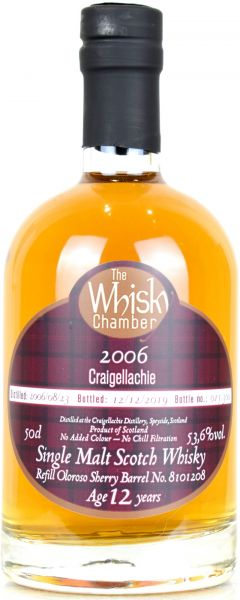 Craigellachie 13 Jahre 2006/2019 Sherry Cask The Whisky Chamber 53,6% vol.