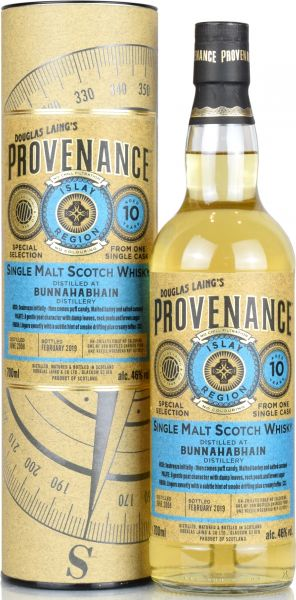 Bunnahabhain 10 Jahre 2008/2019 Provenance Douglas Laing 46% vol.