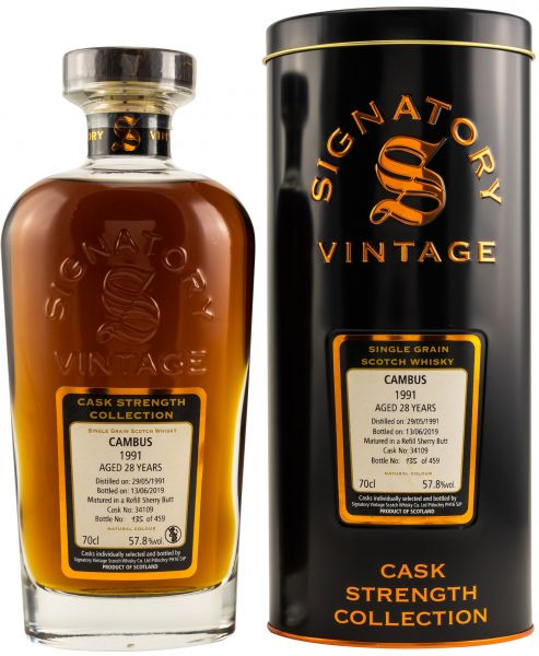 Cambus 28 Jahre 1991/2019 Sherry Cask Signatory Vintage Cask Strength Collection #34109