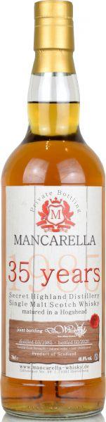 Secret Highland 35 Jahre 1985/2020 Mancarella & deinwhisky.de 48,8% vol.