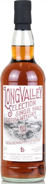 Glendronach 10 Jahre 2009/2019 Sherry Cask LongValley Selection 58,1% vol.