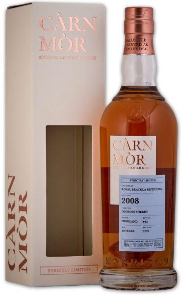 Royal Brackla 12 Jahre 2008/2020 Oloroso Sherry Cask Carn Mor Strictly Limited 47,5% vol.
