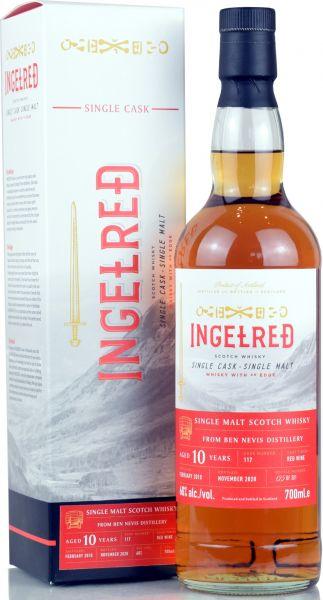 Ben Nevis 10 Jahre 2010/2020 Red Wine Cask Blackadder Ingelred 60% vol.