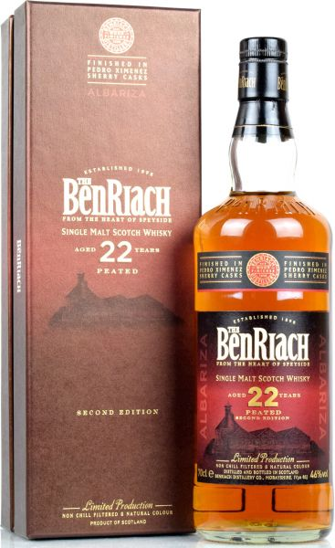 Benriach 22 Jahre Albariza Peated Peadro Ximenez Sherry Wood Finish