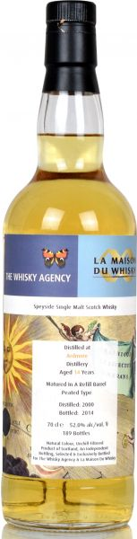 Ardmore 14 Jahre 2000/2014 The Whisky Agency 52,0% vol.