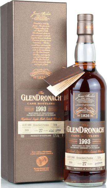 Glendronach 27 Jahre 1993/2020 Batch 18 Single Cask #7276 53,7% vol.