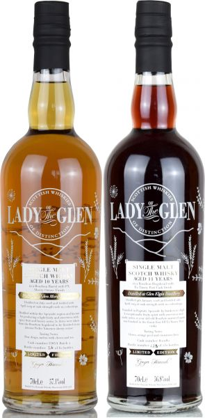 Lady of the Glen-Set: Glen Elgin 2008/2019 Tawny Port + Glen Moray 2008/2019 PX Sherry Octave