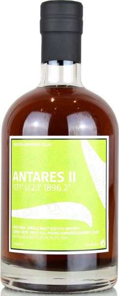 Antares II 10 Jahre 2008/2019 1st Fill PX Sherry Scotch Universe 55,4% vol.