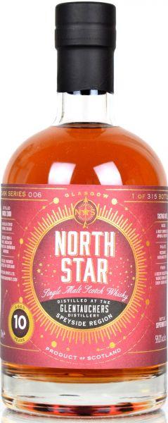 Glentauchers 10 Jahre 2008/2018 Red Wine Finish North Star Spirits #006 59,2% vol.