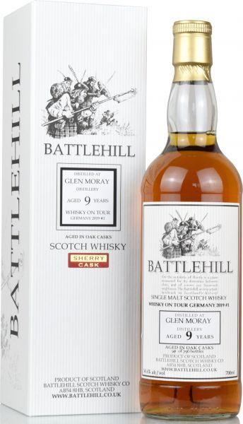 Glen Moray 9 Jahre 2009/2019 Sherry Butt Duncan Taylor Battlehill 54,6% vol.