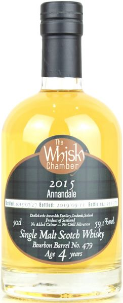 Annandale peated 4 Jahre 2015/2019 The Whisky Chamber 59,1% vol.