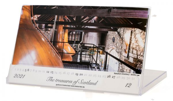 "Tischkalender ""The treasues of Scotland - 2021"" in CD-Box"