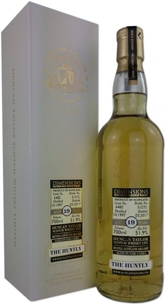 The Huntly (Balvenie) 19 Jahre 1997/2017 Duncan Taylor Dimensions