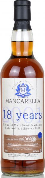 Blended Malt 18 Jahre 2001/2019 Sherry Butt Mancarella & deinwhisky.de 46,1% vol.