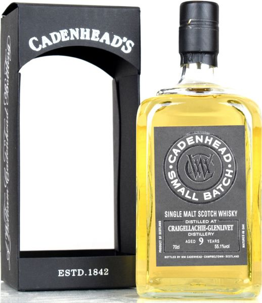 Craigellachie 9 Jahre 2009/2019 Cadenhead's 55,1% vol.