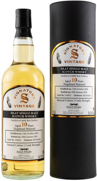 Caol Ila 10 Jahre 2009/2020 Signatory Vintage Cask Strength for Germany 56,3% vol.