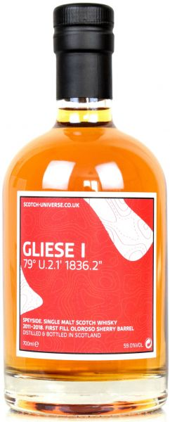 Gliese I 6 Jahre 2011/2018 1st Fill Oloroso Sherry Scotch Universe 59,0% vol.