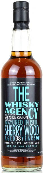 Speyside Region 38 Jahre 1977/2016 Sherry Wood The Whisky Agency 46,8% vol.