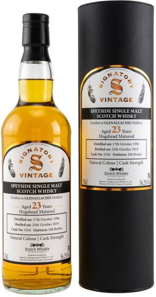 Glenallachie 23 Jahre 1996/2019 Signatory Vintage Cask Strength for Germany 56,2% vol.