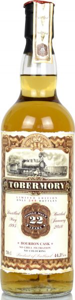 Tobermory 22 Jahre 1995/2018 Jack Wiebers Old Train Line 44,3% vol.
