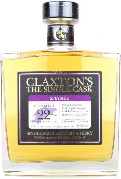 Glen Keith 22 Jahre 1995/2018 Claxton's 49,2% vol.