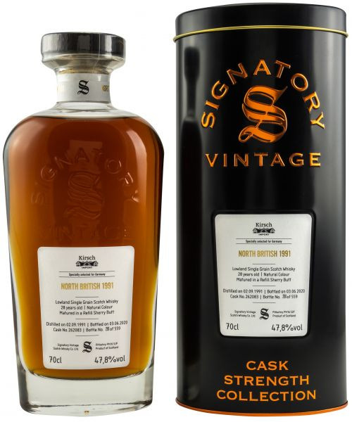 North British 28 Jahre 1991/2020 Sherry Cask Signatory Vintage Cask Strength Collection #262083