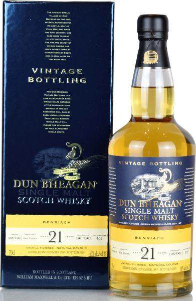 Benriach 21 Jahre 1998/2019 Rum Cask Finish Dun Bheagan 46% vol.