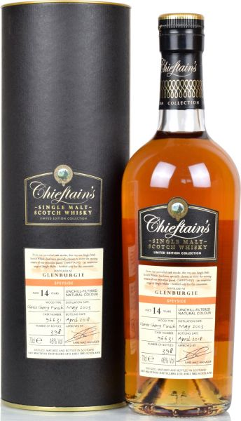 Glenburgie 14 Jahre 2003/2018 Oloroso Sherry Finish Chieftain's 46,0% vol.