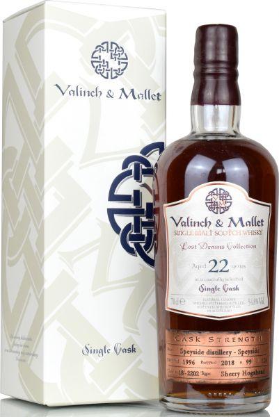 Speyside Distillery 22 Jahre 1996/2018 Sherry Cask Valinch & Mallet 54,8% vol.