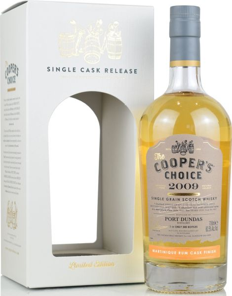 Port Dundas 10 Jahre 2009/2020 Martinique Rum Cask Cooper's Choice 60,5% vol.