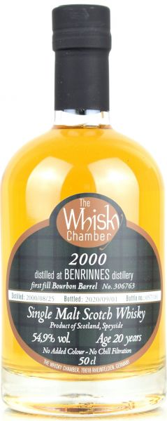 Benrinnes 20 Jahre 2000/2020 The Whisky Chamber 54,9% vol.