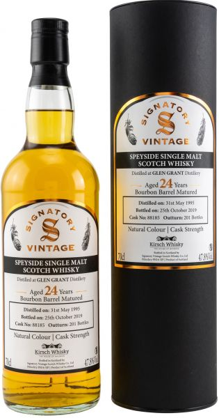 Glen Grant 24 Jahre 1995/2019 Signatory Vintage Cask Strength for Germany 47,8% vol.