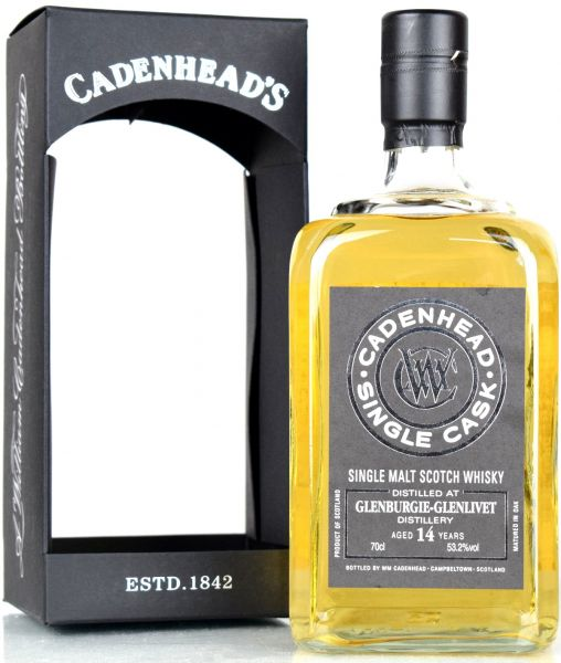 Glenburgie 14 Jahre 2004/2018 Single Cask Cadenhead's for France 53,2% vol.