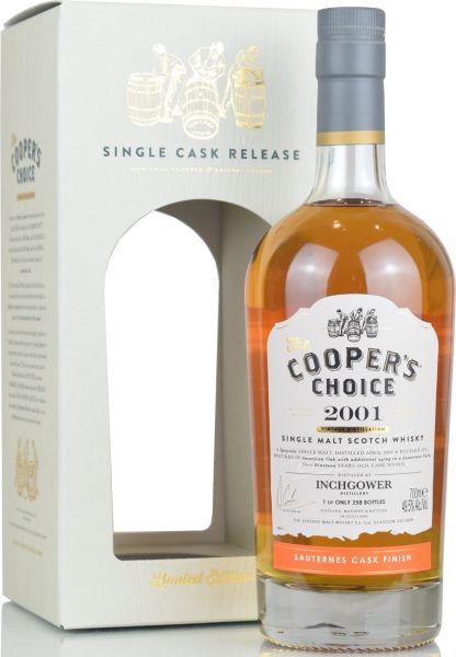 Inchgower 19 Jahre 2001/2021 Sauternes Cask Cooper's Choice 49,5% vol.