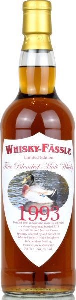 Fine Blended Malt 24 Jahre 1993/2018 Sherry Cask Whisky-Fässle Duck-Label 54,3% vol.