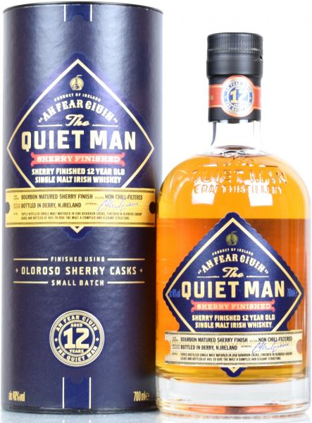 The Quiet Man 12 Jahre Small Batch Sherry Finish