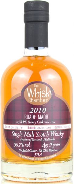 Ruadh Maor (Glenturret) 9 Jahre 2010/2020 PX Sherry Cask The Whisky Chamber 56,2% vol.