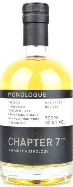 Mannochmore 11 Jahre 2008/2020 Chapter 7 MONOLOGUE #7 52,5% vol.