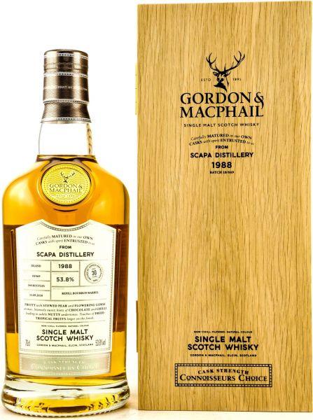 Scapa 30 Jahre 1988/2018 Gordon & MacPhail 53,8% vol.
