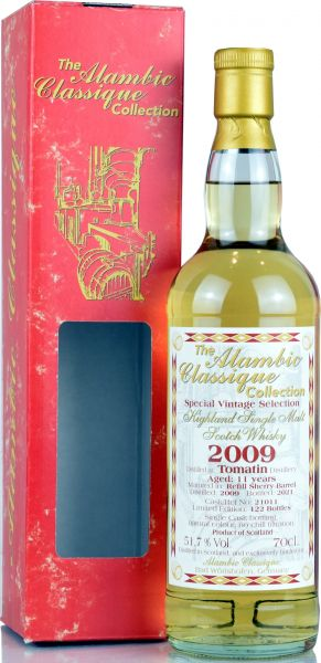 Tomatin 11 Jahre 2009/2021 Sherry Cask Alambic Classique 51,7% vol.