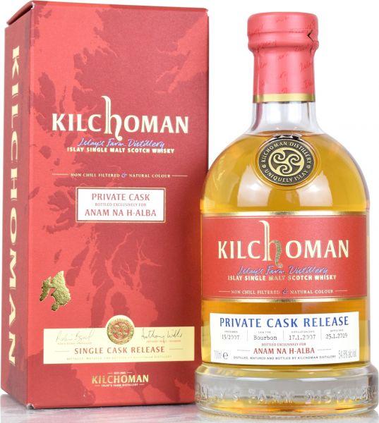 Kilchoman 12 Jahre 2007/2019 Private Cask Anam na h-Alba 54,8% vol.