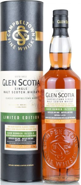 Glen Scotia 2002/2020 1st Fill Ruby Port Hogshead #19/320-5 52,1% vol.