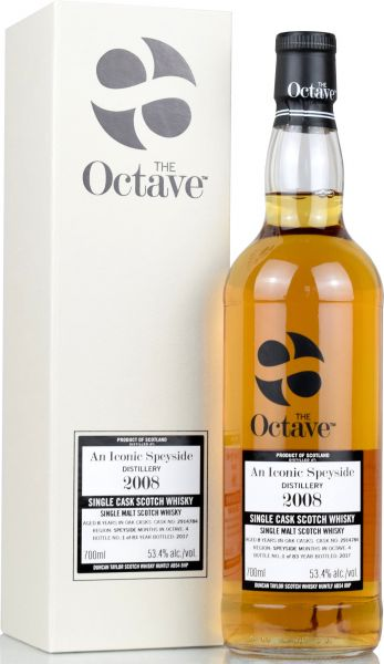 An Iconic Speyside 8 Jahre 2008/2017 Duncan Taylor Sherry Octave Cask #2914784 53,4% vol.