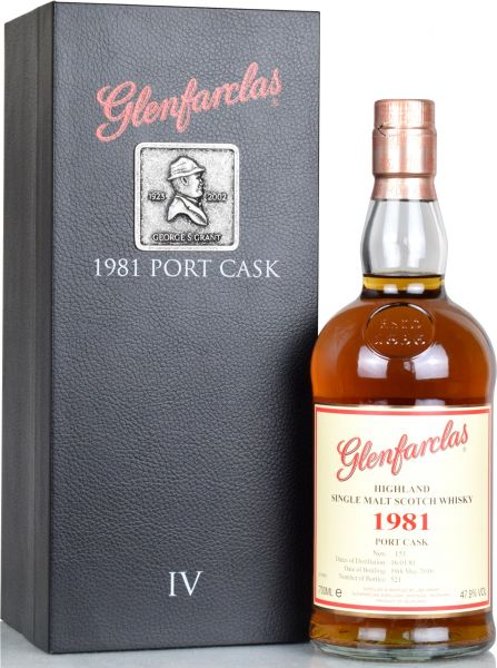 Glenfarclas 35 Jahre 1981/2016 Port Cask Six Generations IV 47,9% vol.