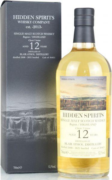 Blair Athol 12 Jahre 2008/2021 Hidden Spirits 52,1% vol.