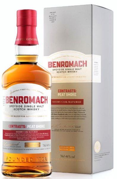 Benromach 2012/2021 Contrasts:Peat Smoke Sherry Cask 46% vol.