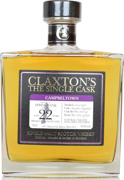 Springbank 22 Jahre 1996/2018 Claxton's 55,0 % vol.